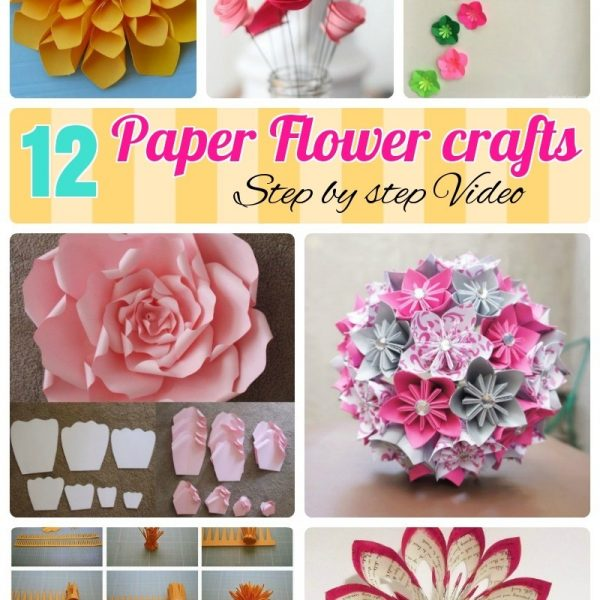 12 Step By Diy Papers Made Flower Craft Ideas For Kids Regarding How To Make Paper Flowers