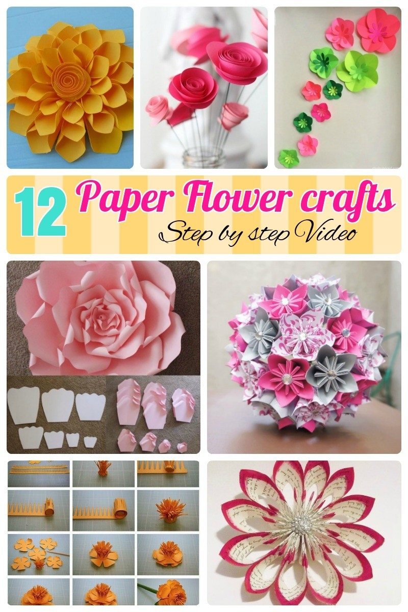 12 Step By Step Diy Papers Made Flower Craft Ideas For Kids - Diy regarding How To Make Paper Craft Flowers Step By Step 28911