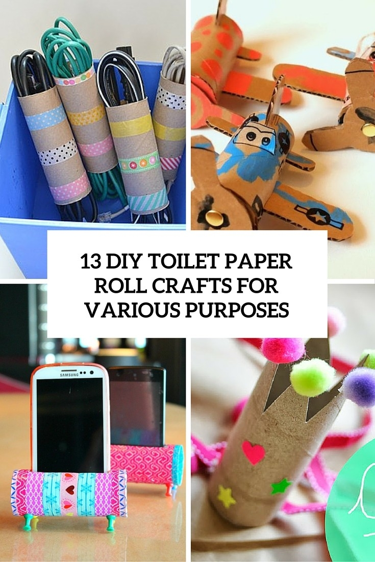 13 Diy Toilet Paper Roll Crafts For Various Purposes - Shelterness inside Tissue Paper Roll Crafts 27523