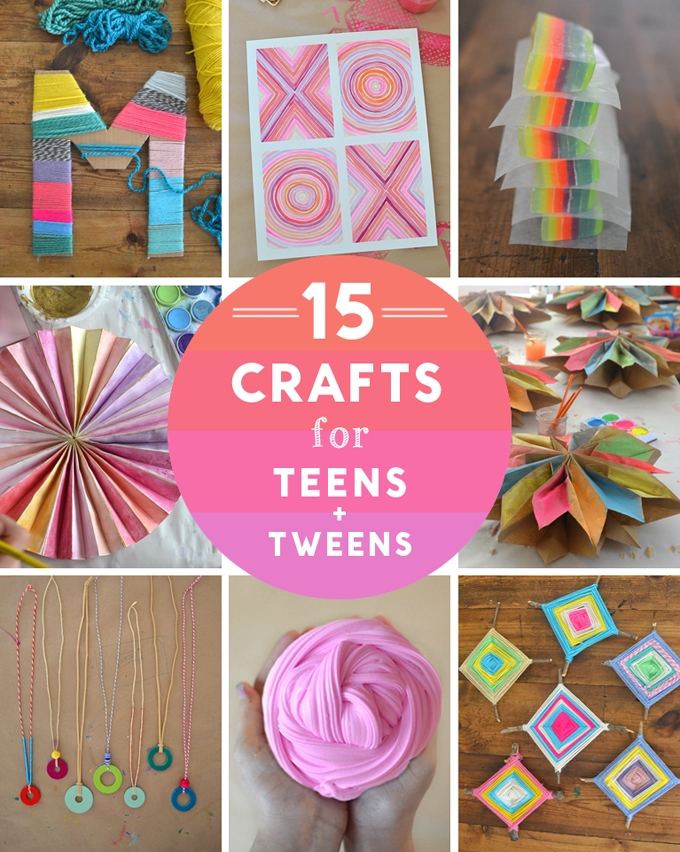 14 Crafts For Teens And Tweens - Artbar within Paper Crafts For Teenagers 27440