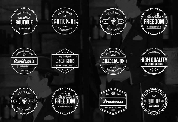 15 Free Vintage Logo & Badge Template Collections regarding Vintage Label Template Psd 26925
