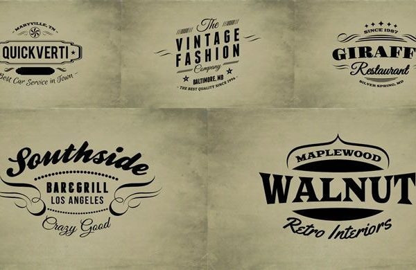 15 Free Vintage Logo & Badge Template Collections within Vintage Label Template Psd