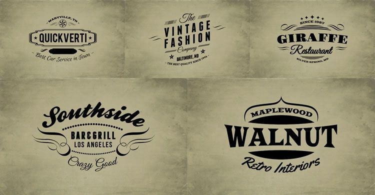 15 Free Vintage Logo & Badge Template Collections within Vintage Label Template Psd 26925