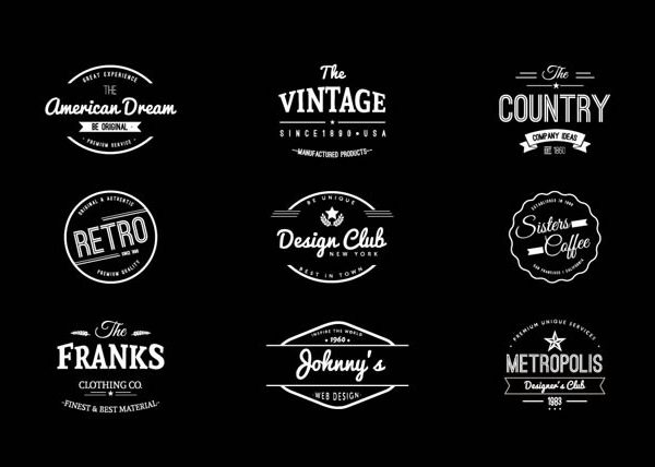 15 Free Vintage Logo Template Collections | Logo Templates, Logos within Vintage Label Template Psd