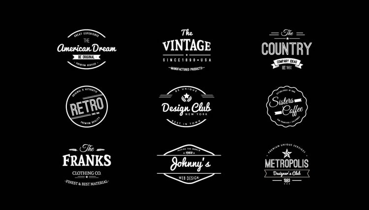 15 Free Vintage Logo Template Collections | Logo Templates, Logos within Vintage Label Template Psd 26925