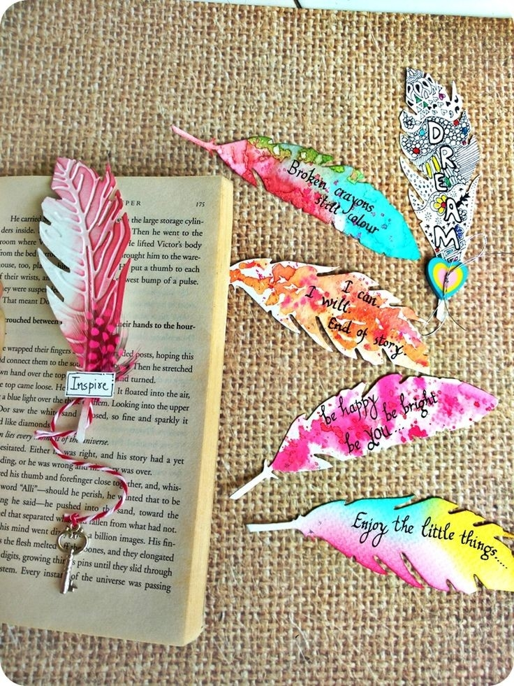 15 Pretty Diy Bookmarks For Teens To Get Creative And Treasure for Handmade Bookmarks For Books 29612