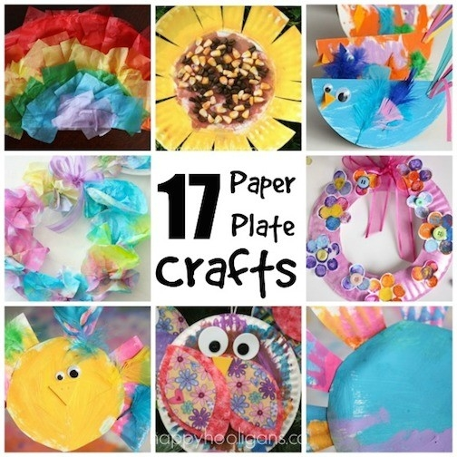 17 Easy Paper Plate Crafts For Kids - Happy Hooligans pertaining to Crafts For Kids To Do At Home Step By Step 27816