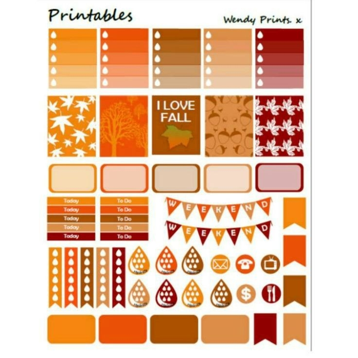 18 Best Printable Planner Stickers Images On Pinterest | Printable pertaining to Erin Condren Planner Stickers 30399