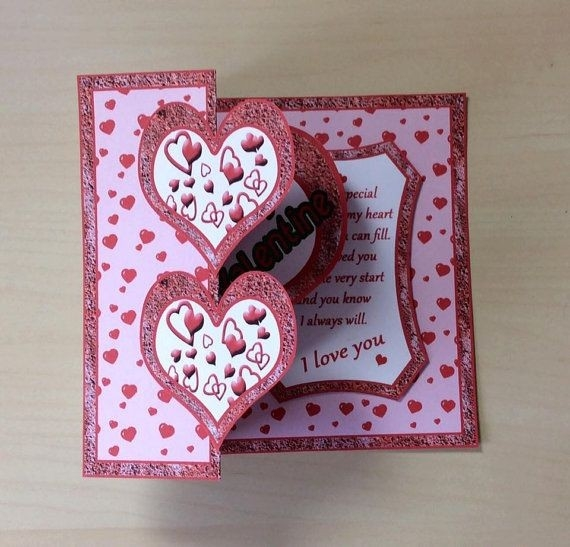 2 Hearts Card * Handmade Card * Birthday Card * I Love You Card with Handmade Love Cards For Husband 30198