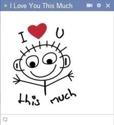 20 Best Facebook Chat Stickers Images On Pinterest | Facebook inside I Love You Stickers For Facebook 26513