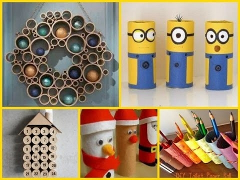 20 Creative Diy Toilet Paper Roll Craft - Youtube regarding Tissue Paper Roll Crafts 27523