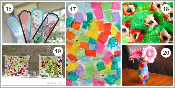 20+ Tissue Paper Crafts For Kids - Buggy And Buddy with regard to Tissue Paper Art For Kids 27480
