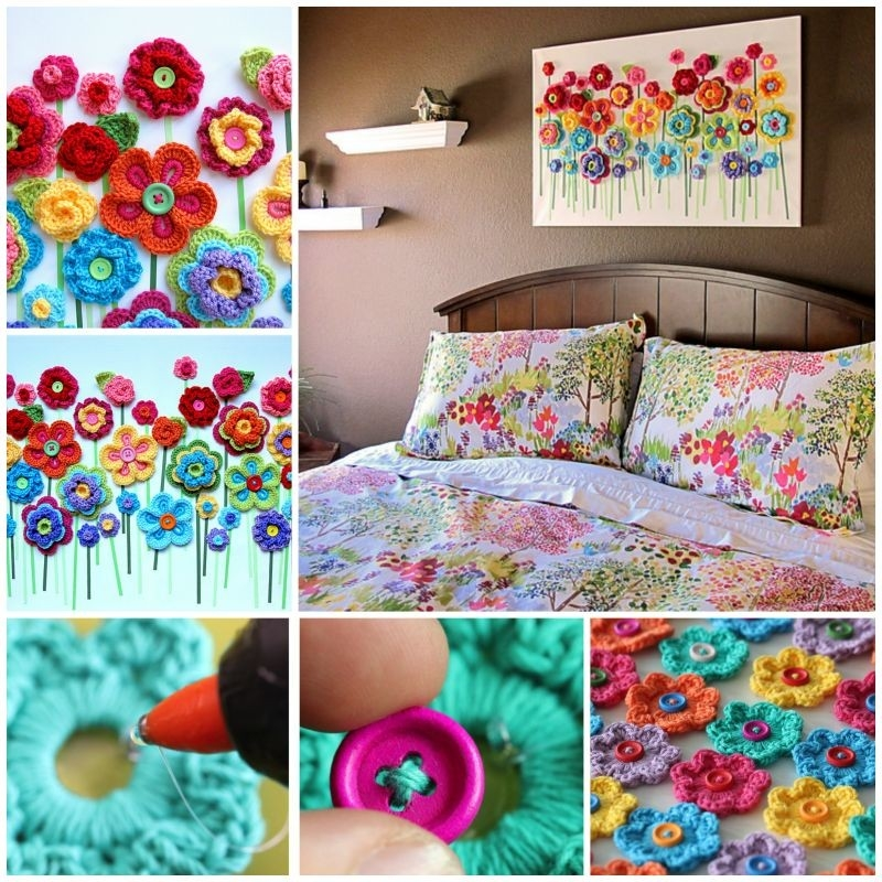 23 Easy To Make And Extremely Creative Button Crafts Tutorials in Handmade Arts And Crafts Ideas Step By Step 29220