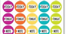 Calendar Reminder Stickers