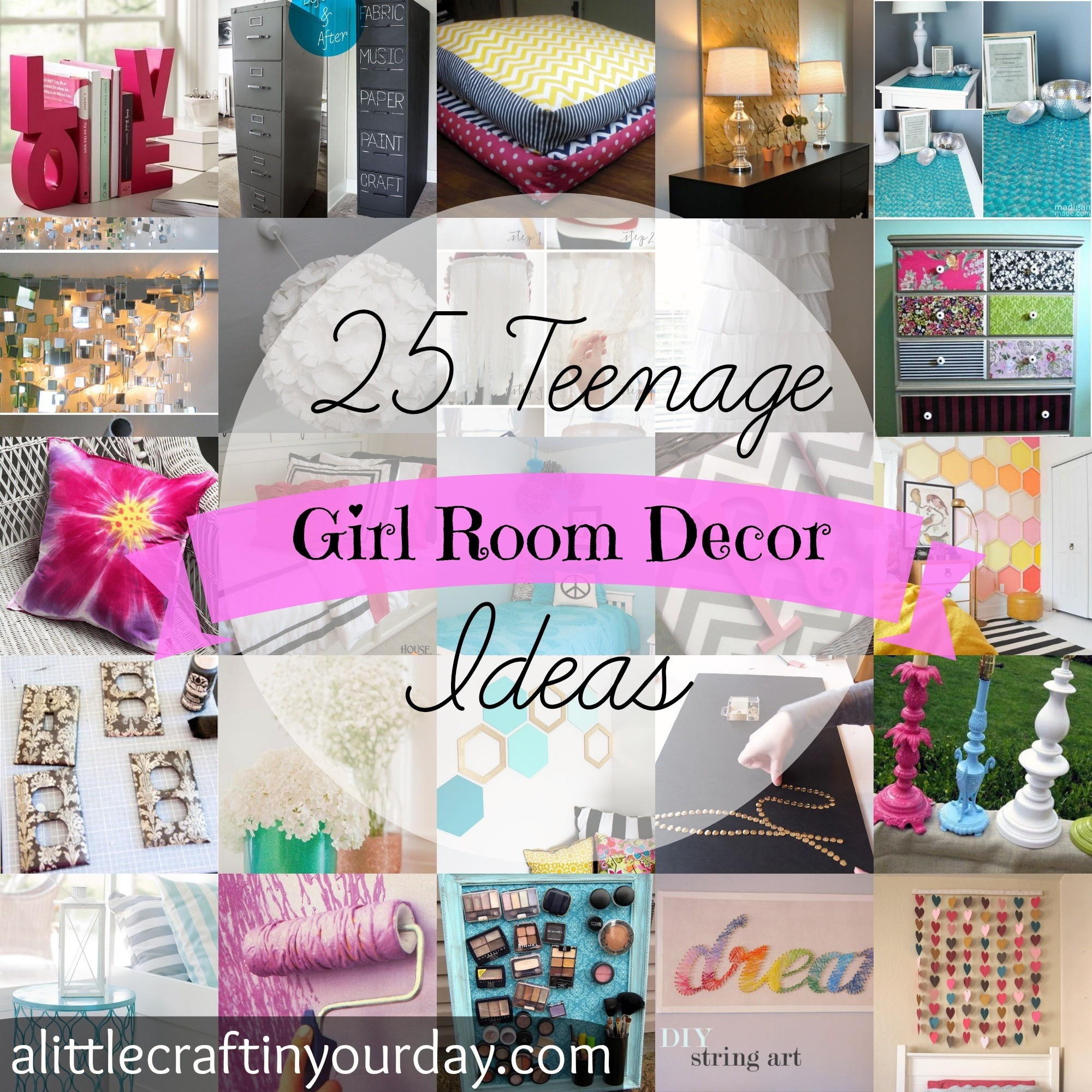 25 Teenage Girl Room Decor Ideas - A Little Craft In Your Day for Crafts For Teenagers Bedrooms 28902