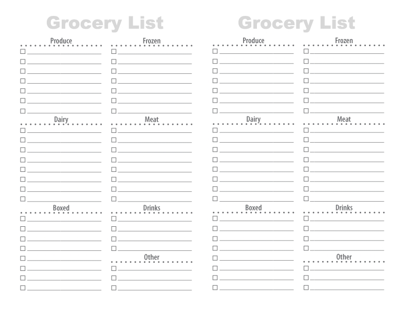 28 Free Printable Grocery List Templates | Kitty Baby Love intended for Printable Grocery List By Category 26089
