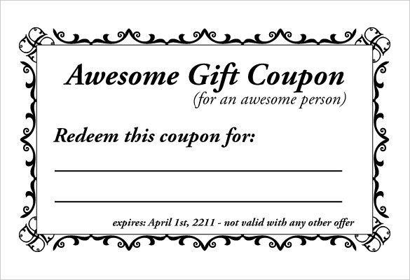 28+ Homemade Coupon Templates – Free Sample, Example, Format within Homemade Coupon Design 30338