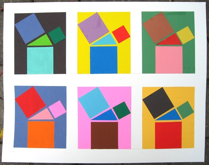 2D Design: Colored-Paper Cutouts in Construction Paper Designs 28658