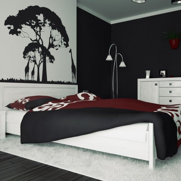 3 Black And White Bedroom Ideas Midcityeast Throughout Wall Painting Designs