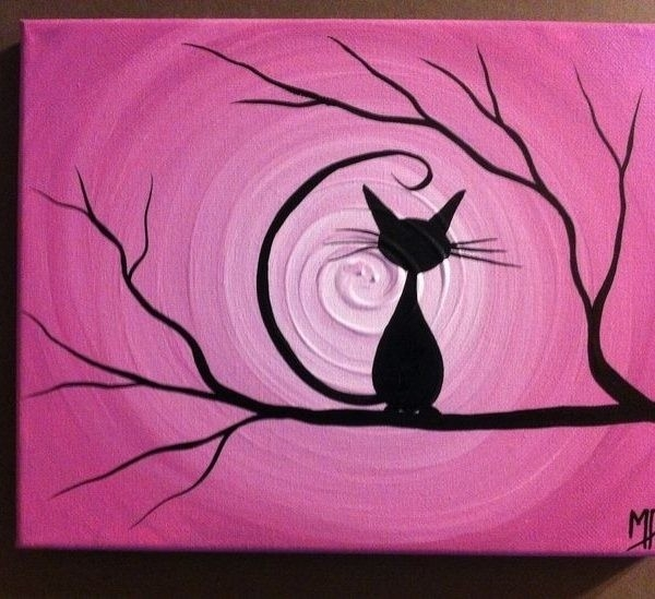 30 Easy Canvas Painting Ideas | Canvases, Paintings And Easy In throughout Easy Wall Art Painting Ideas 29804