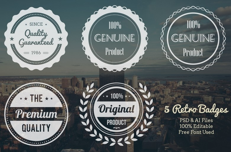 30+ Free Modern Insignia (Logo / Badge) Templates (Updated For in Vintage Label Template Psd 26925