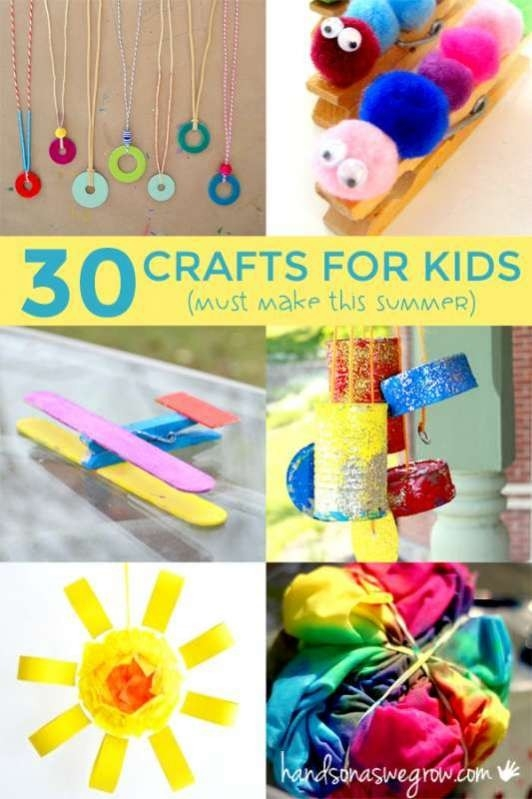 30 Summer Crafts For Kids To Make - Hands On : As We Grow throughout Crafts For Kids To Do At Home For Summer 29391