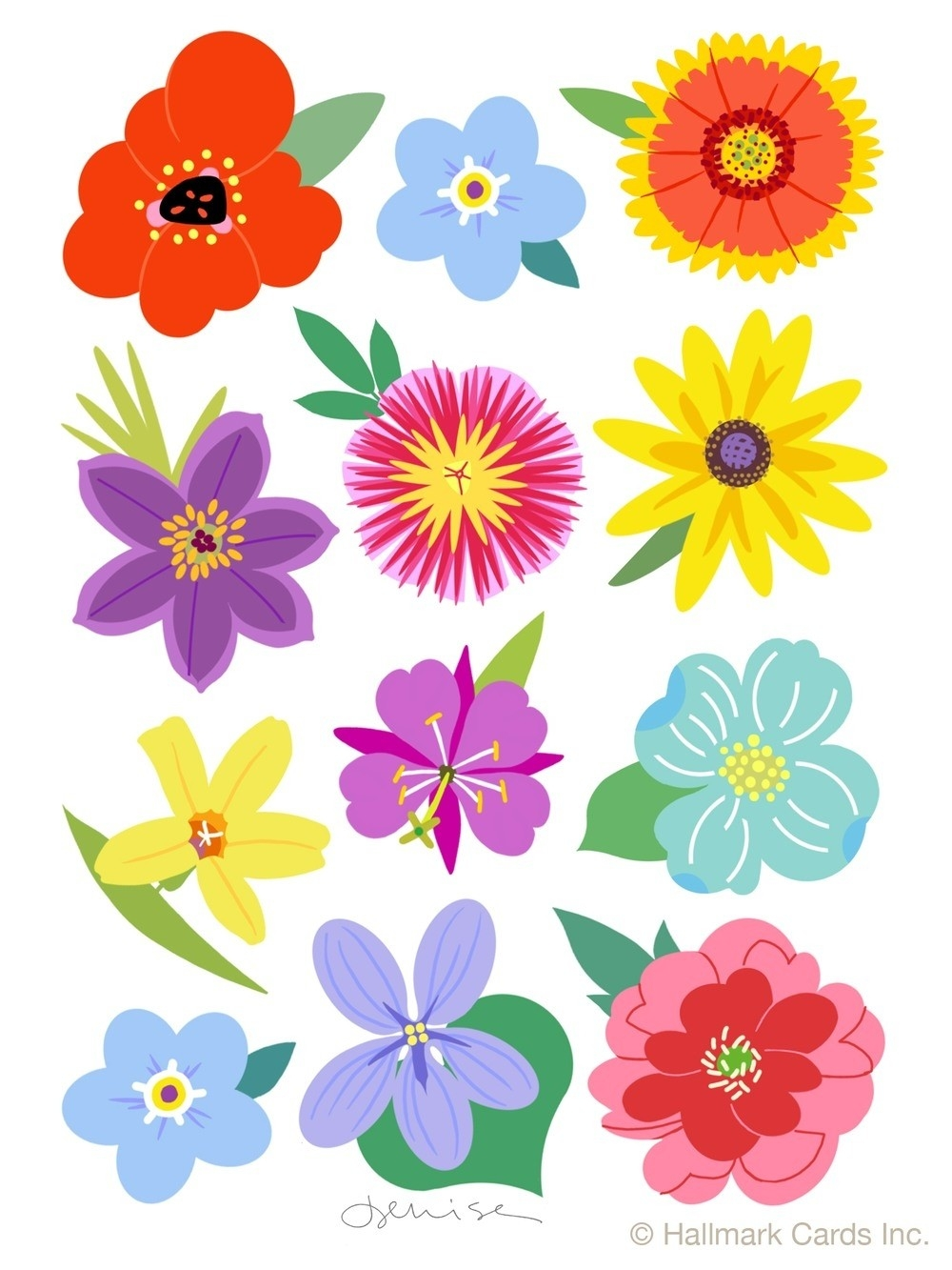 33++ Cool Flower Stickers For regarding Flower Stickers For Cards 26725