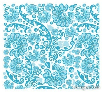 4-Designer | Blue Pattern Background Vector Material in Bookmark Background Designs Blue 27200