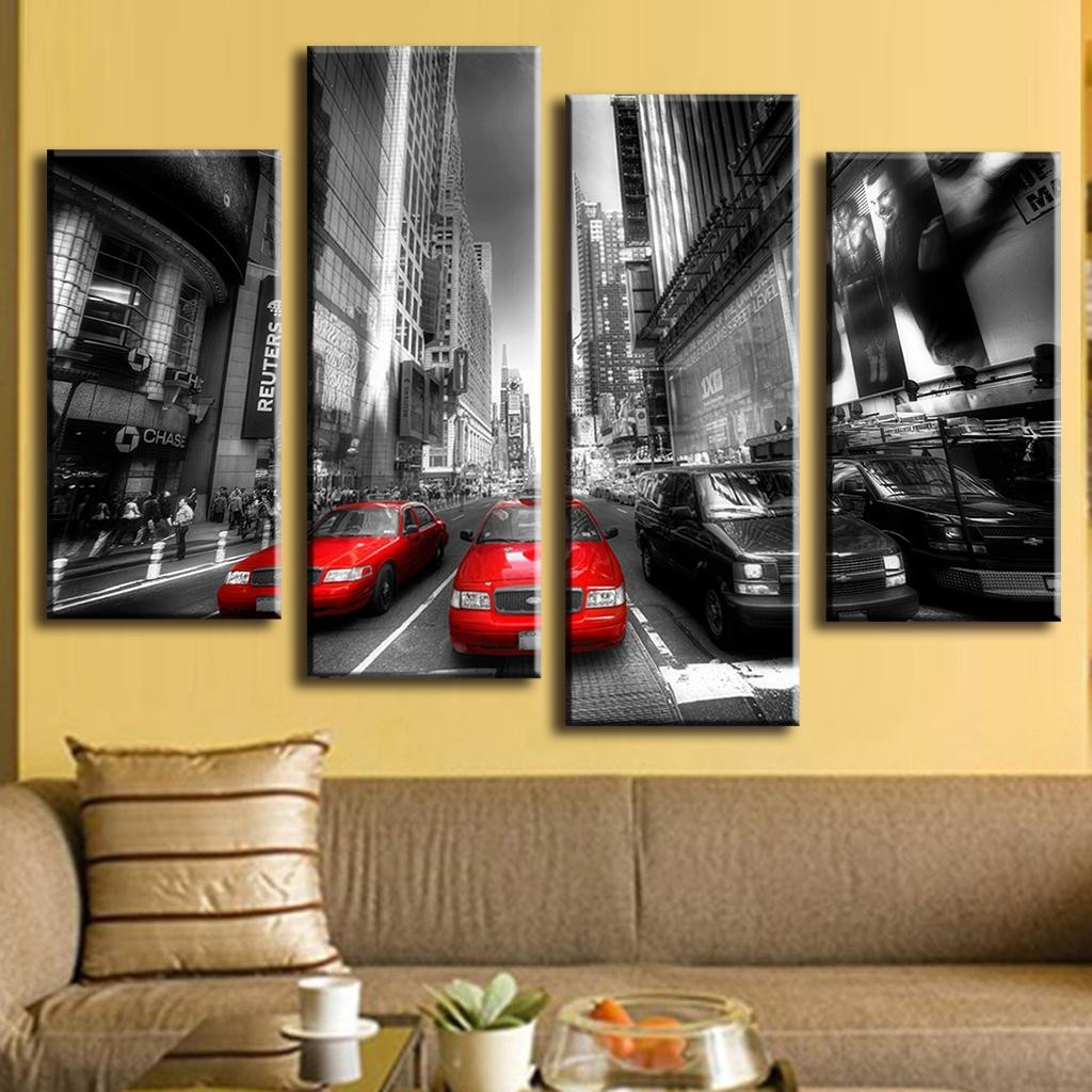 4 Pcs/set New Arrival Modern Wall Painting Canvas Wall Art Picture regarding Modern Wall Art Painting 29784