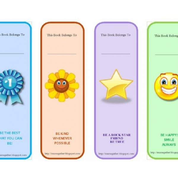 photograph regarding Free Printable Bookmark Templates referred to as 40 Absolutely free Printable Bookmark Templates Template Lab