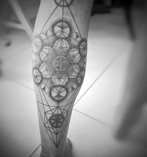 50 Geometric Leg Tattoos For Men – Masculine Design Ideas Inside within Geometric Shape Tattoo 24869