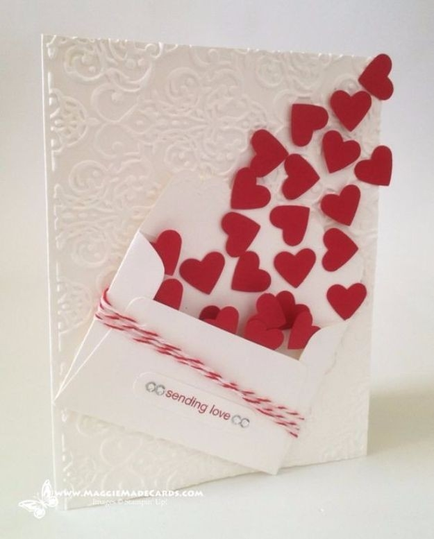 50 Thoughtful Handmade Valentines Cards | Easy Handmade Cards with Love Cards For Him Handmade 28192