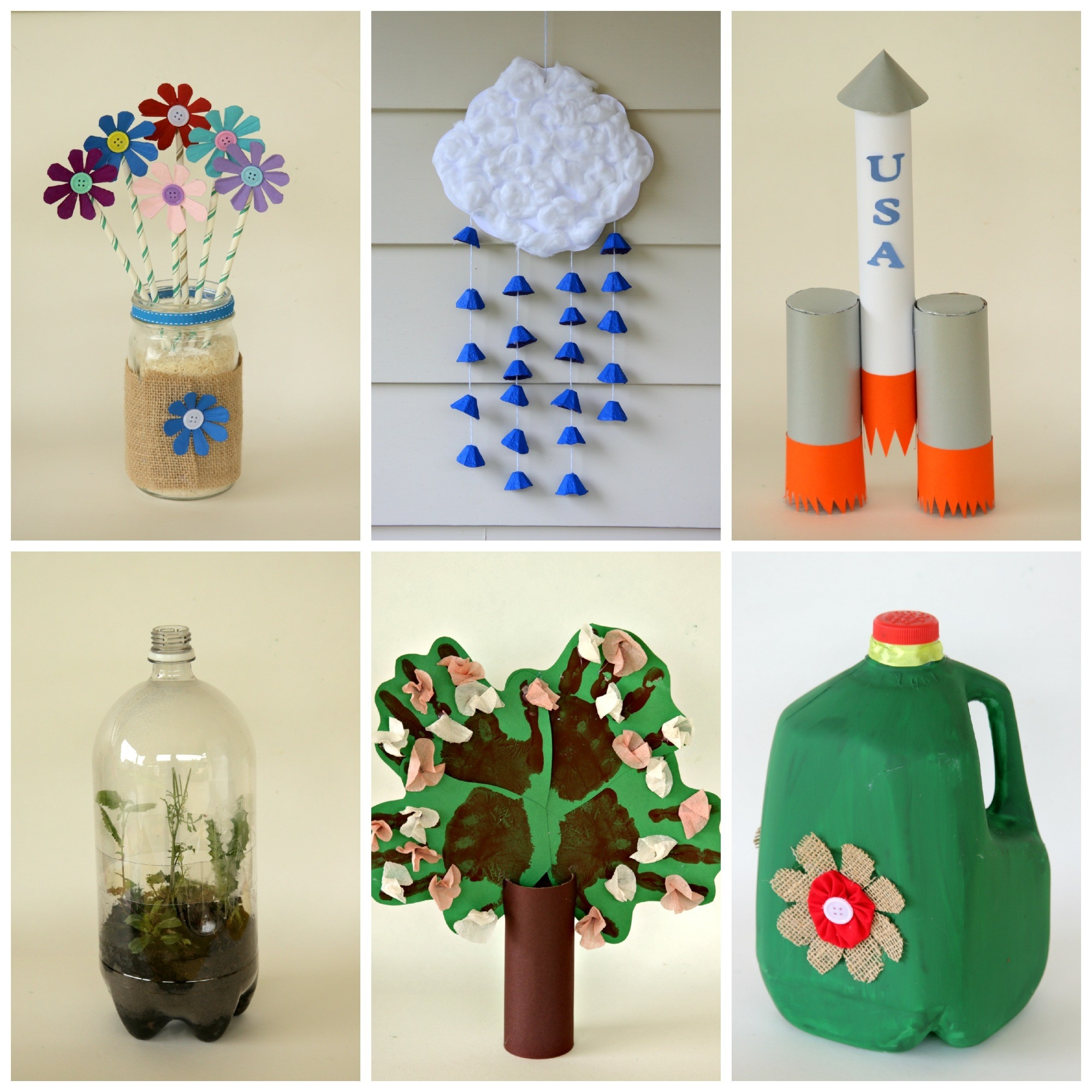 6 Earth Day Crafts From Recycled Materials · Kix Cereal intended for Crafts For Kids With Recycled Materials 27049