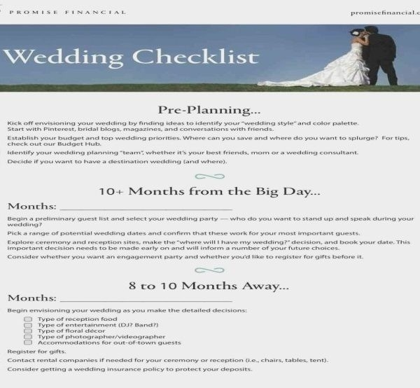 Printable wedding checklist the knot examples and forms for Wedding registry the knot