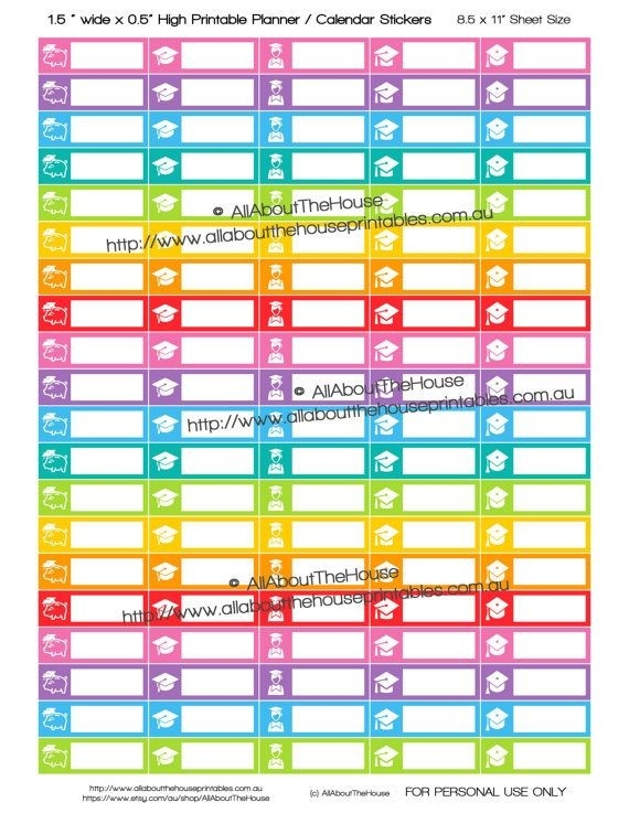 8708 Best Planner / Calendar Stickers Images On Pinterest with Calendar Stickers For College Students 28268