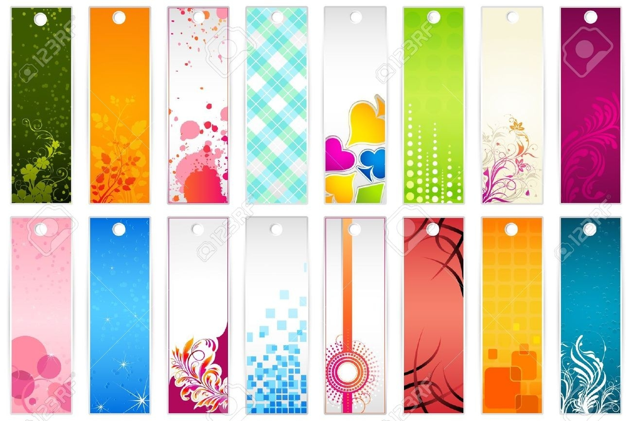 9736514-Illustration-Of-Set-Of-Colorful-Floral-Bookmark-Stock regarding Bookmarks For Books Designs 27943