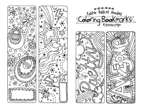 A Printable To Color This Easter! - Stephanie Corfee pertaining to Cool Bookmarks To Print And Color 27220