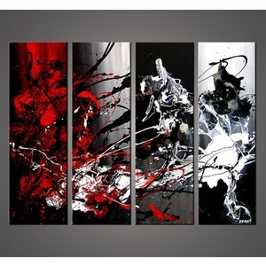 Absolutely Ideas Black White And Red Wall Art With Modern Painting intended for Black And White Wall Art With Red 26714