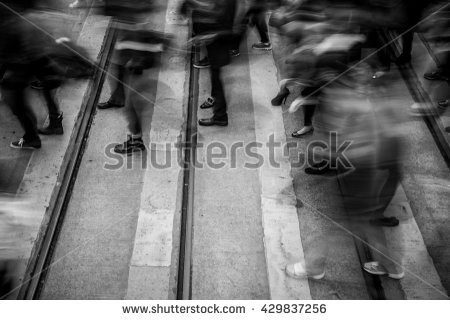 Abstract City People Background Black White Stock Photo 429837301 within Black And White Abstract Photography Of People 28042