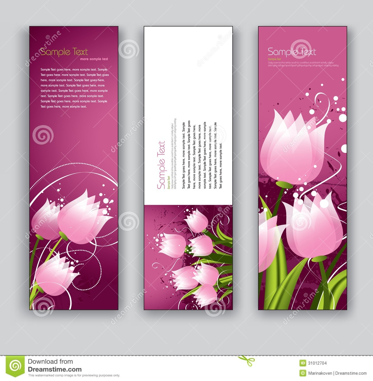 Abstract Floral Banners. Vector Eps10 Backgrounds. Stock Vector intended for Bookmark Backgrounds Free Download 27170