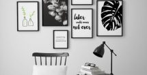 Black And White Bedroom Wall Art