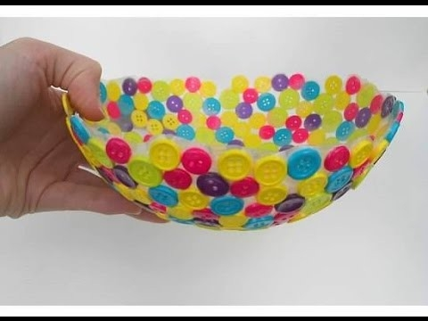 Adorable Diy Bowls For Home Decor - Youtube pertaining to Handmade Crafts Using Waste Materials 26885