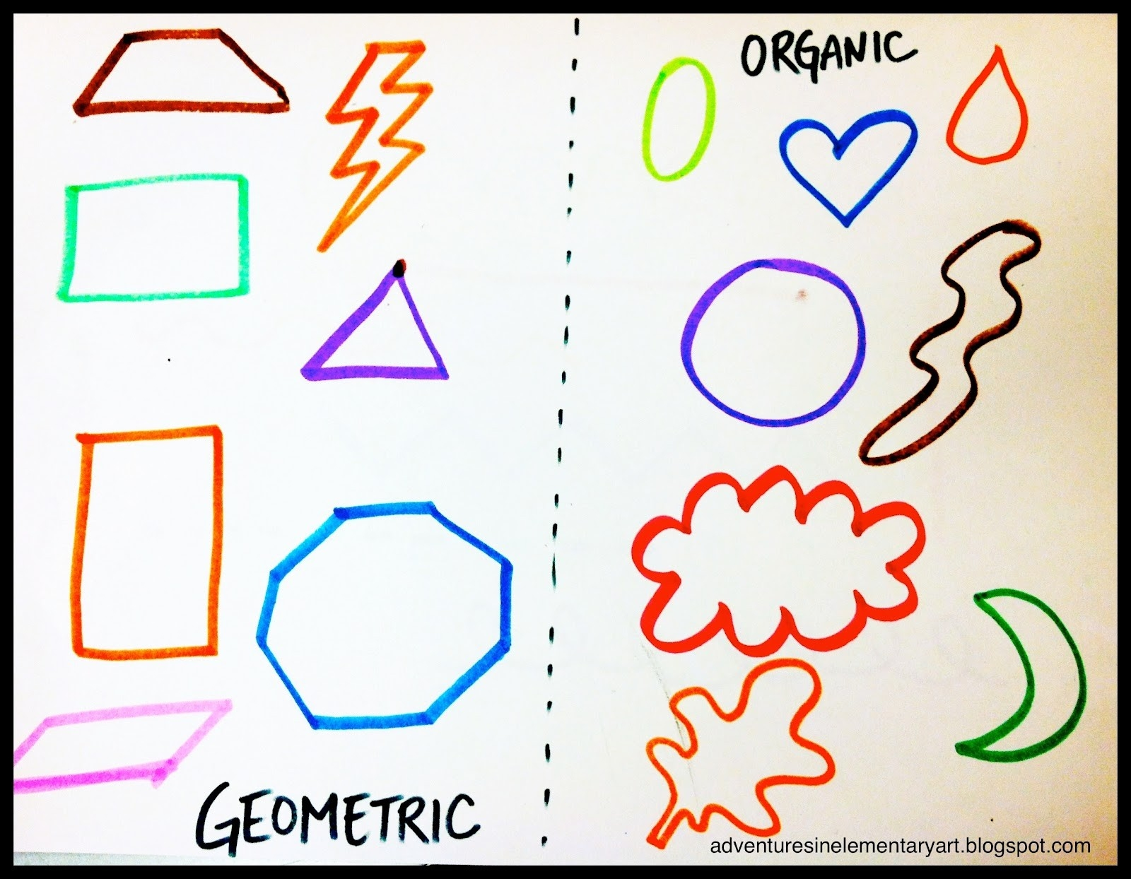 Adventures In Elementary Art!: Concentric Shapes - 2Nd regarding Geometric And Organic Shapes In Art 24950