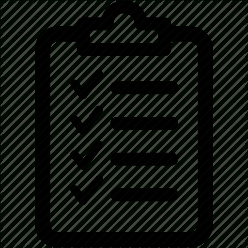 Agreement, Check, Checklist, Clipboard, Form, List, Report Icon within Checklist Icon Black And White 26163