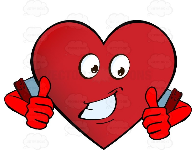 Approving, Encouragaing Heart Smiley With Two Thumbs Up Wearing with Heart Smiley Faces Clip Art 30699