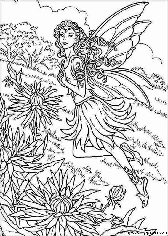 Artistic Adult Coloring Posters And Designs, Complex Pictures And inside Detailed Coloring Pages Of Fairies 29472