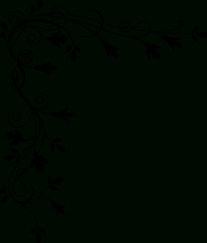 Awsome Backgrounds & Wallpapers   Simple Floral Border - Clipart regarding Black And White Flower Abstract Png 29918