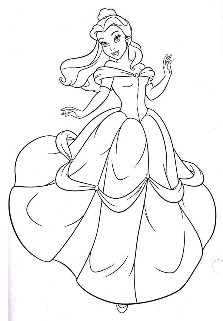 Belle Coloring Pages Coloring Pages Coloring Book 9427 inside Disney Princess Belle Coloring Pages For Girls 29431