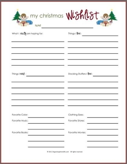 Best 25+ Christmas Shopping List Ideas On Pinterest | Christmas intended for Cute Christmas Wish List Template Free Printable 26202