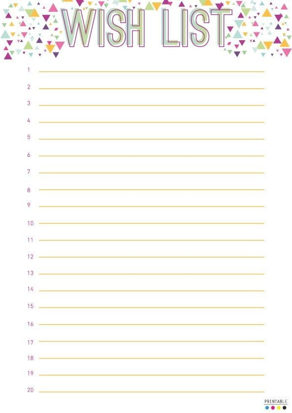 Best Photos Of Wish List Printable Template - Birthday Wish List intended for Cute Christmas Wish List Template Free Printable 26202